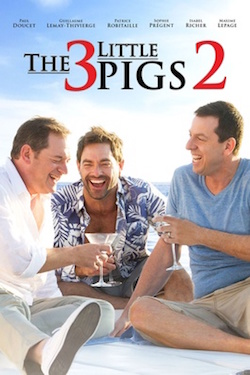 The Three L'il Pigs 2 poster with the main actors