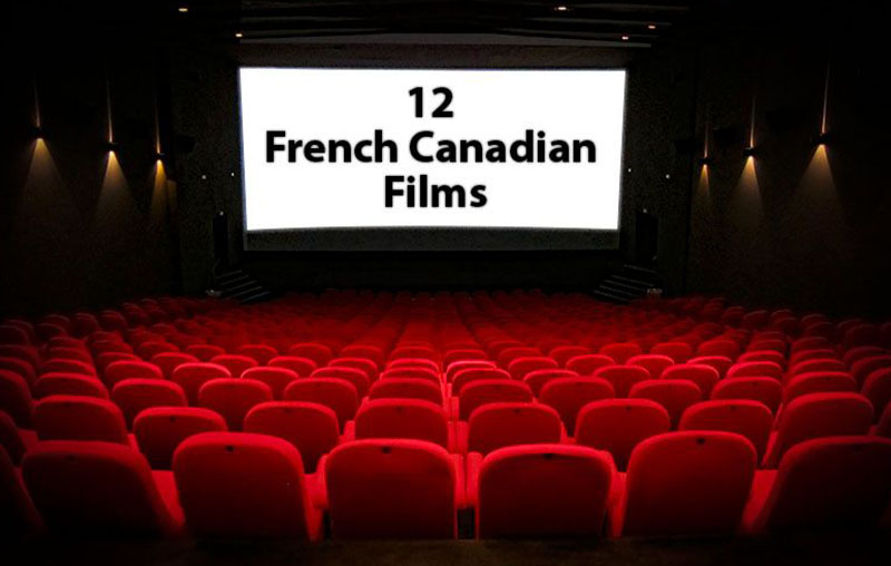 Cinema screen with a sign 12 French Films
